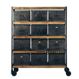 cabinet manufacture meuble tiroirs maisons du monde. Black Bedroom Furniture Sets. Home Design Ideas