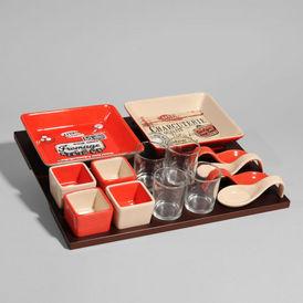 plateau 14 compartiments grignotte plateau maisons du monde. Black Bedroom Furniture Sets. Home Design Ideas