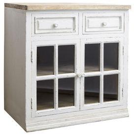 El ment bas vitr 80 cm eleonore meuble de cuisine - Maison du monde boite de rangement ...