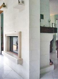 double face chemin e centrale pierre naturelle jean magnan. Black Bedroom Furniture Sets. Home Design Ideas