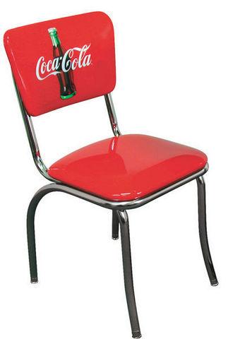 chaise de diner coca cola chaise us connection decofinder. Black Bedroom Furniture Sets. Home Design Ideas