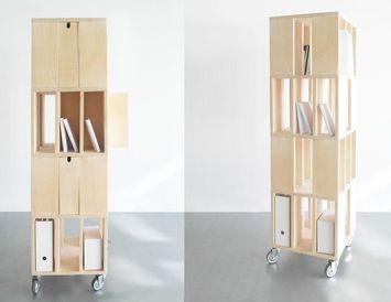 building 4m rangement mobile malherbe edition decofinder. Black Bedroom Furniture Sets. Home Design Ideas