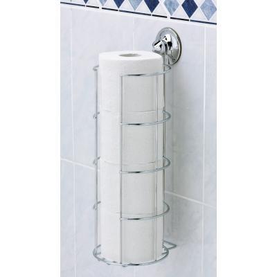 Range papier toilette ventouse r serve rouleaux everloc - Support papier toilette ventouse ...