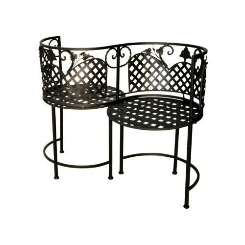 confident noir en fer forg conversation demeure et jardin. Black Bedroom Furniture Sets. Home Design Ideas