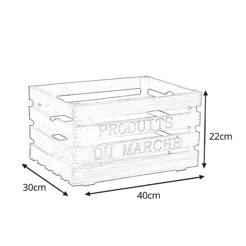caisse en bois produits du march caisse de rangement aubry. Black Bedroom Furniture Sets. Home Design Ideas