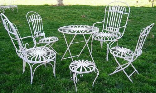 salon de jardin el gance en fer forg chaise de jardin. Black Bedroom Furniture Sets. Home Design Ideas