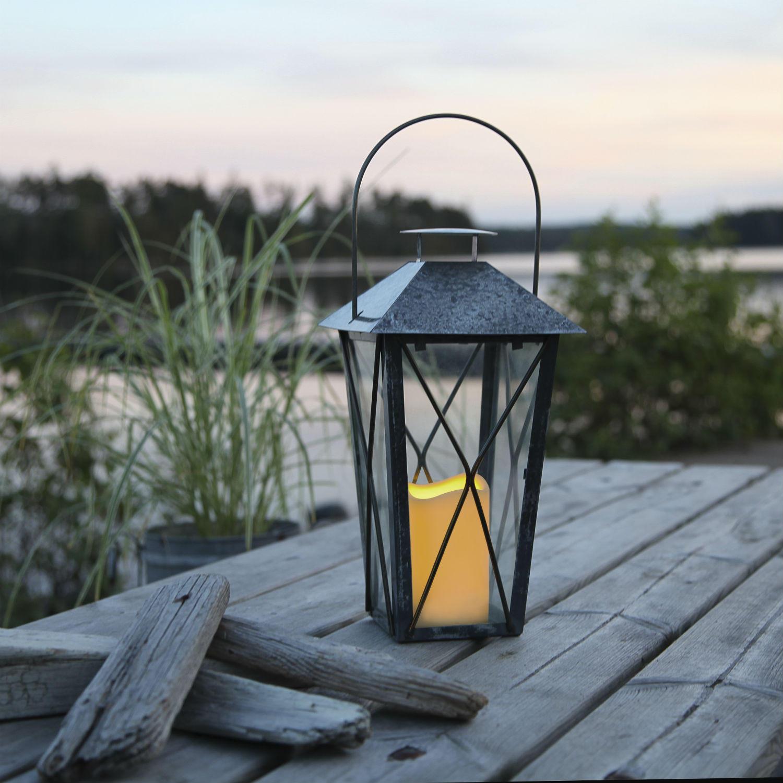 Lantern lanterne ext rieur m tal vieilli gris bo - Lanterne d exterieur ...
