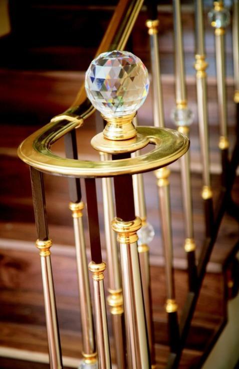 strass de swarovski boule d 39 escalier transparent igs deco. Black Bedroom Furniture Sets. Home Design Ideas