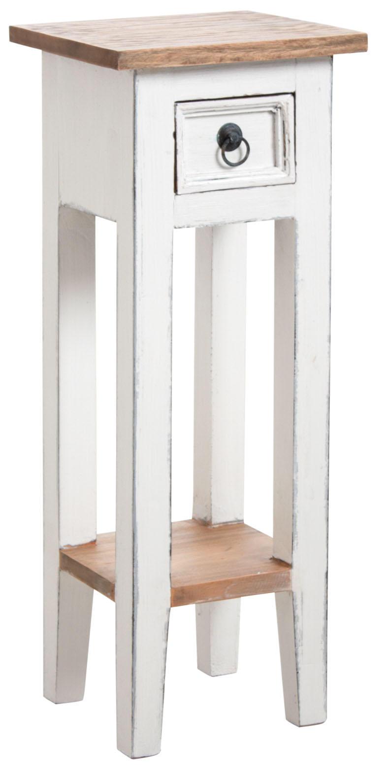 petite table carr e en bois blanc gu ridon aubry gaspard. Black Bedroom Furniture Sets. Home Design Ideas