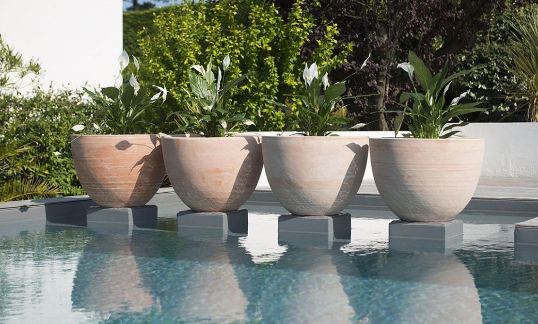 Cuvier pot de fleur naturel terre cuite poterie goicoechea - Comment disposer des pots sur une terrasse ...