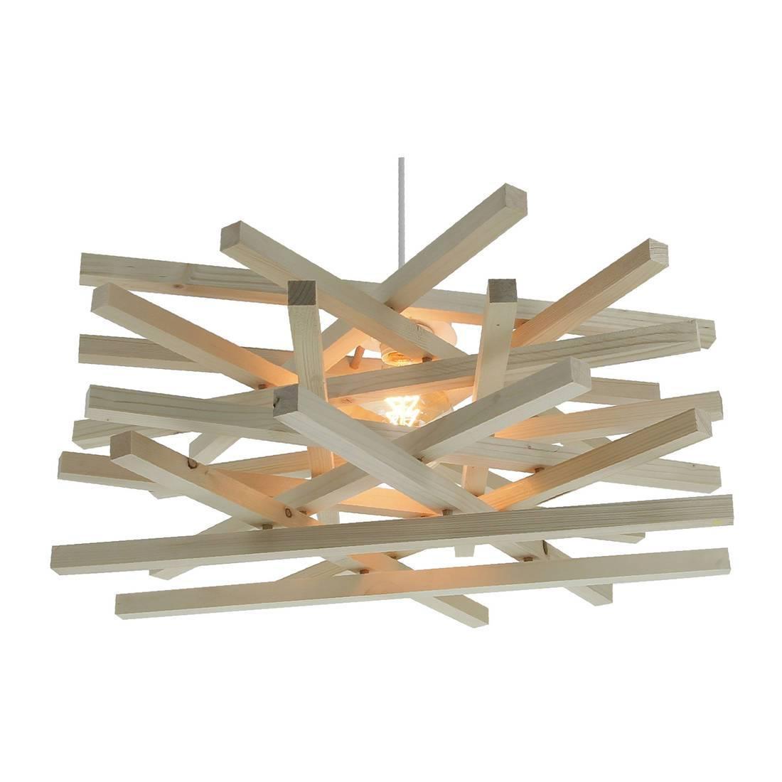 Nid suspension bois 56cm h 24cm c ble 60cm - Suspension bois design ...