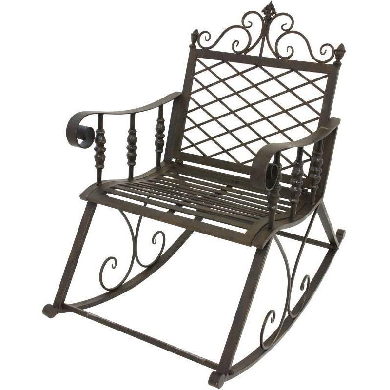 fauteuil banc rocking chair en fer de jardin 100 c rocking chair. Black Bedroom Furniture Sets. Home Design Ideas
