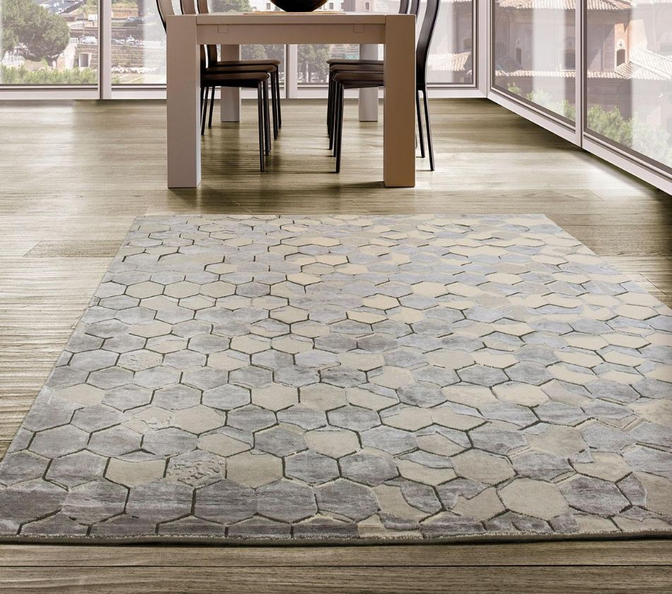 tapis contemporain brun laine italy dream design