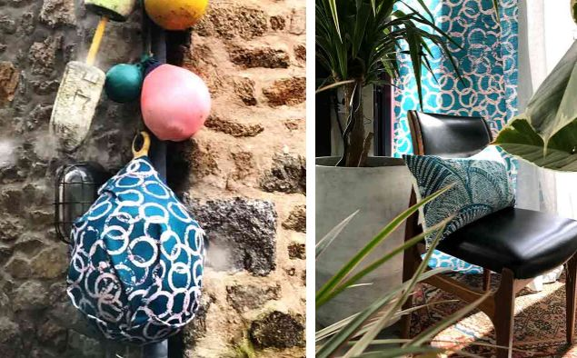 canard tissu d 39 ameublement vert lalie design. Black Bedroom Furniture Sets. Home Design Ideas