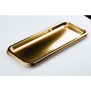 Adiserve - Vaisselle jetable-Adiserve-Petit plat Or 35 x 16 cm par 3 Couleurs Or