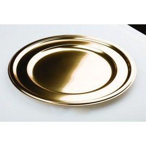 Adiserve - Vaisselle jetable-Adiserve-Sous-assiette ronde Or 30,5cm par 4 Couleurs Or