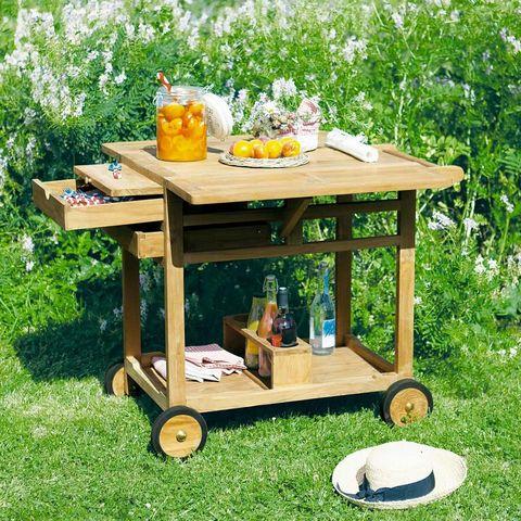 MAISONS DU MONDE - Table roulante de jardin-MAISONS DU MONDE-La Rochelle