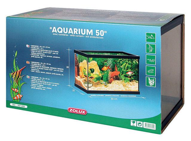ZOLUX - Aquarium-ZOLUX-Aquarium 37 litres rectangulaire avec cornières 50