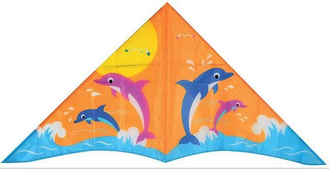 WDK Groupe Partner - Cerf volant-WDK Groupe Partner-Cerf-volant dauphins 1 commande 130x65cm
