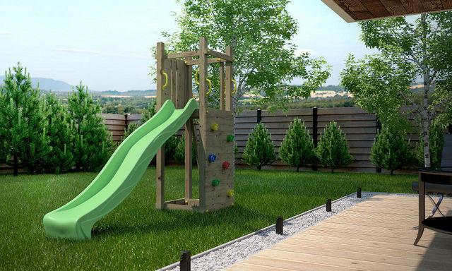 Chalet & Jardin - Portique-Chalet & Jardin-Plateforme de jeux enfant Zébulon