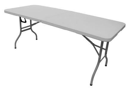 GECKO - Table pique-nique-GECKO-Table de réception pliante blanche en résine 183x7