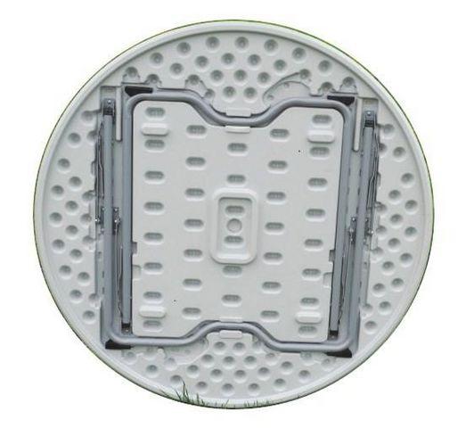 GECKO - Table pique-nique-GECKO-Table ronde pliante en résine blanche 115x73,5cm