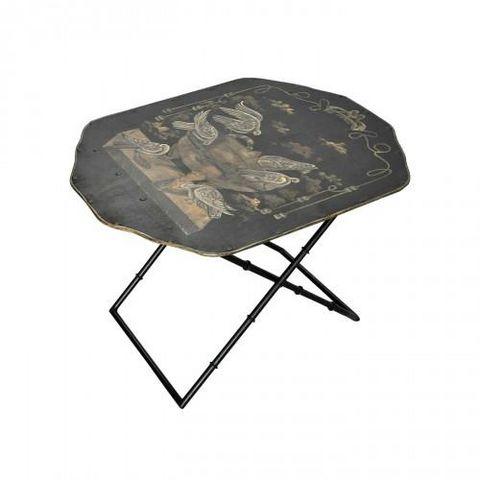 Demeure et Jardin - Table basse forme originale-Demeure et Jardin-Table basse toile peinte Colombes