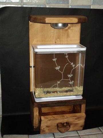 DECO CHALET MONTAGNE - Aquarium-DECO CHALET MONTAGNE-AQUARIUM + MEUBLE  NANO AQUARIUM STYLE SCANDINAVE