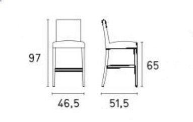 Calligaris - Chaise haute de bar-Calligaris-Chaise de bar LATINA de CALLIGARIS aigue marine et