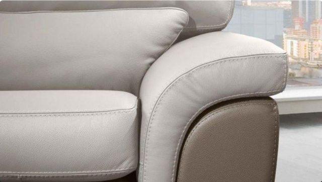 WHITE LABEL - Canapé 2 places-WHITE LABEL-CLOÉ canapé cuir vachette 2 places. Bicolore marro