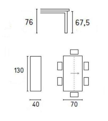 Calligaris - Console extensible-Calligaris-Console extensible SNAP gris béton et acier laqué