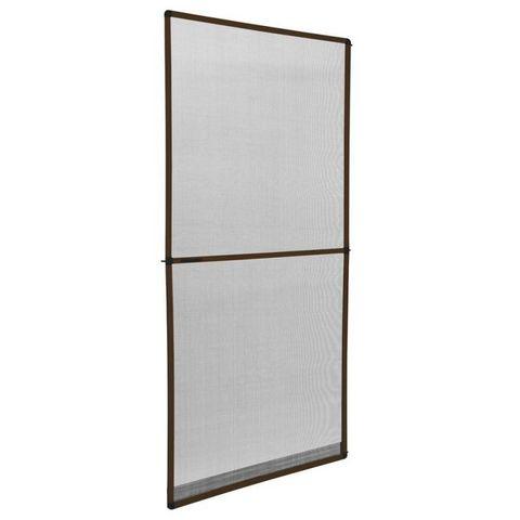 WHITE LABEL - Moustiquaire de fenêtre-WHITE LABEL-Moustiquaire pour porte cadre fixe en aluminium 95x210 cm blanc