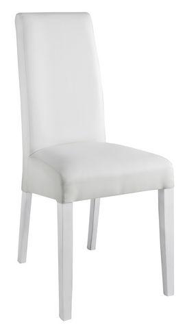 COMFORIUM - Salle à manger-COMFORIUM-Table à manger blanche et grise 160 cm + 4 chaises