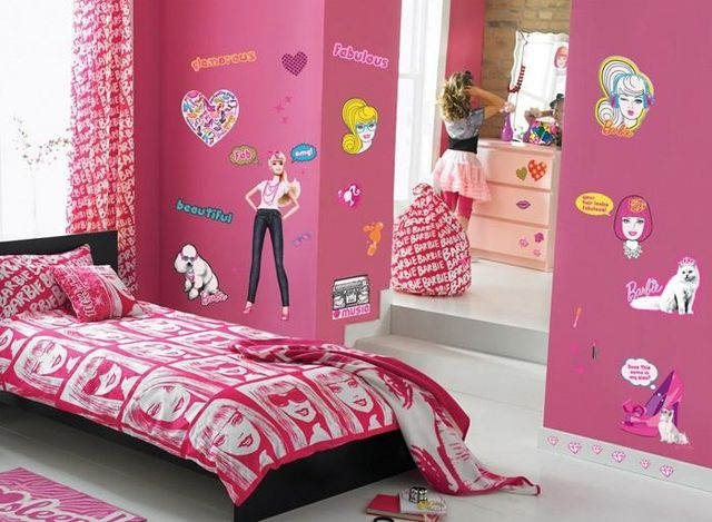 Funtosee - Sticker Décor adhésif Enfant-Funtosee-Kit de stickers Barbie