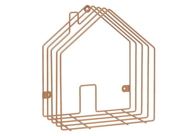 Present Time - Porte-revues-Present Time-Rangement magazine House en métal cuivré