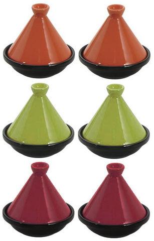 Aubry-Gaspard - Plat à tajine-Aubry-Gaspard-6 Mini Tajines en Céramique 10cm