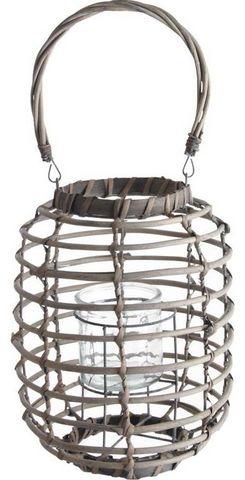Aubry-Gaspard - Lanterne d'extérieur-Aubry-Gaspard-Lanterne en osier