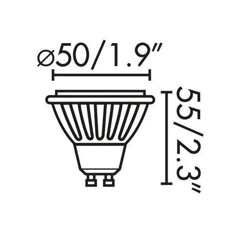 FARO - Ampoule LED-FARO-Ampoule LED GU10 7W/50W 4000K 600lm 120D Blanc