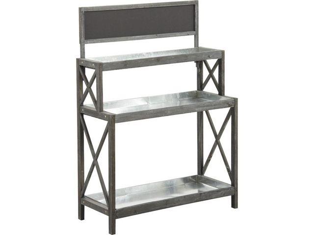 Aubry-Gaspard - Table de rempotage-Aubry-Gaspard-Table à rempoter en bois et zinc