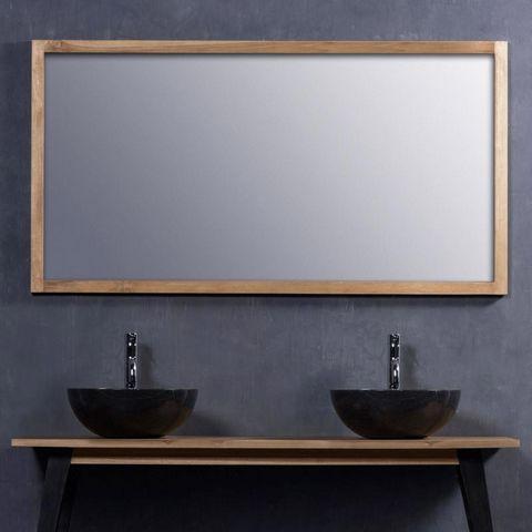 Miroir en bois de teck 150 - Miroir de salle de bains - Teck ...