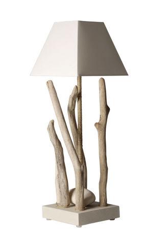 Coc'Art Créations - Lampe à poser-Coc'Art Créations-lampe nature élévation