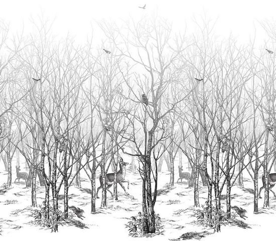 ISIDORE LEROY - Papier peint panoramique-ISIDORE LEROY-Panoramique Forêt Enchatée