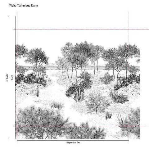 ISIDORE LEROY - Papier peint panoramique-ISIDORE LEROY-Dune