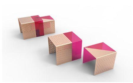 DESINVOLTE DESIGN - Bout de canapé-DESINVOLTE DESIGN-Table d'appoint