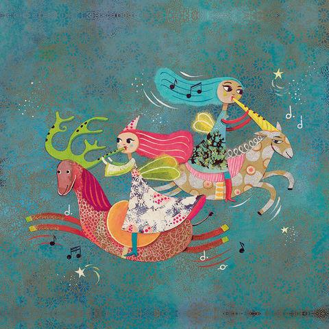 LES APPRENTIS REVEURS - Tableau décoratif enfant-LES APPRENTIS REVEURS-Les fées musiciennes / Muriel Kerba