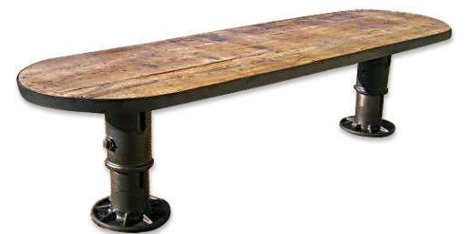 creantik - Table de repas ovale-creantik