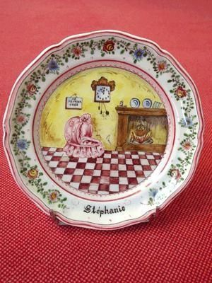 Ceramique Regnier - Assiette de baptème-Ceramique Regnier