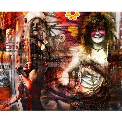 Magel'design - Tableau contemporain-Magel'design-Janis Joplin Legendary 100x80 cm , 3D effet relief