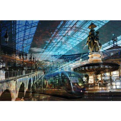 Magel'design - Tableau contemporain-Magel'design-Bordeaux Ligne C 120x80 cm , 3D effet relief
