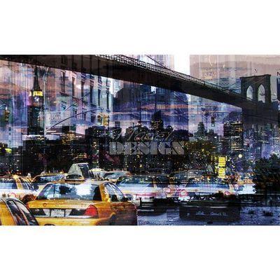 Magel'design - Tableau contemporain-Magel'design-NY Under Bridge120x70 cm , 3D effet relief